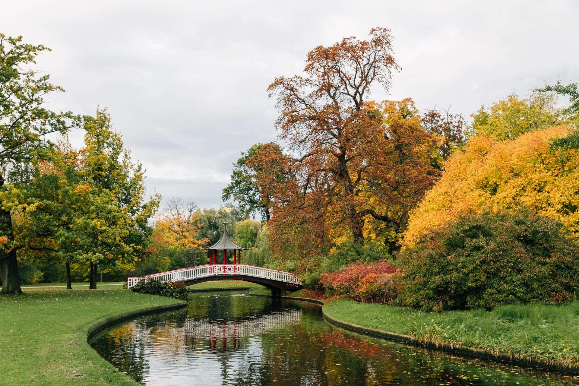 Frederiksberg Have i efteråret