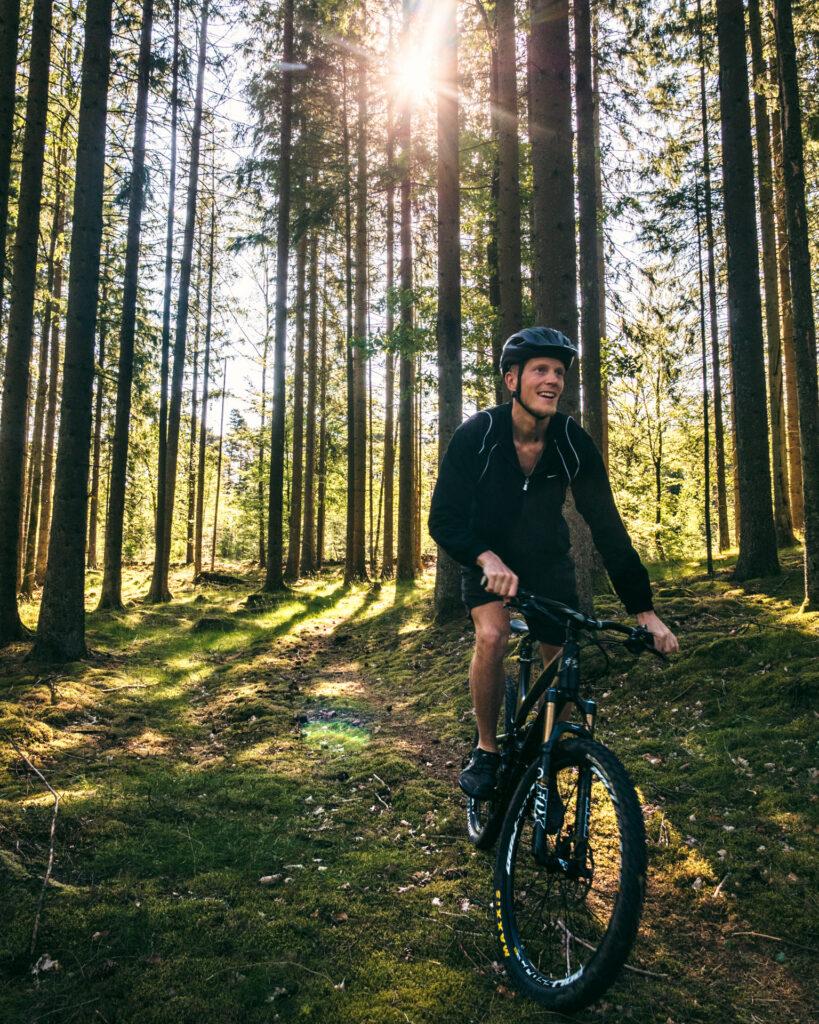 En lille cykeltur i de skånske skove