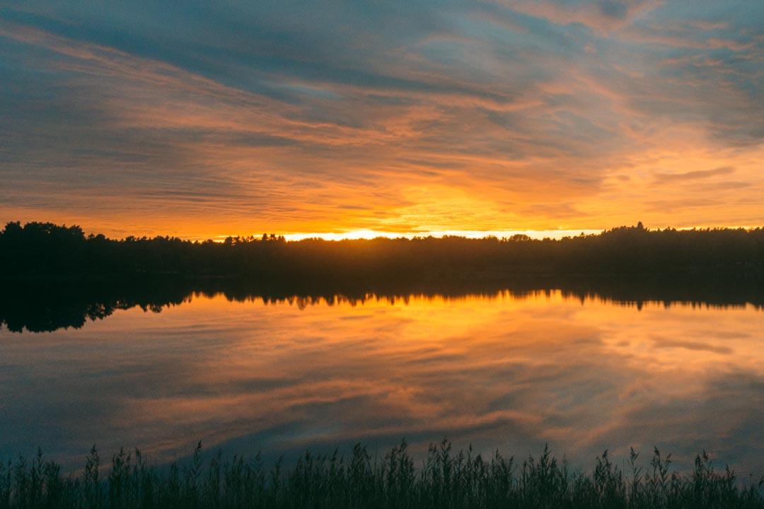 2020 solnedgang fra Skåne