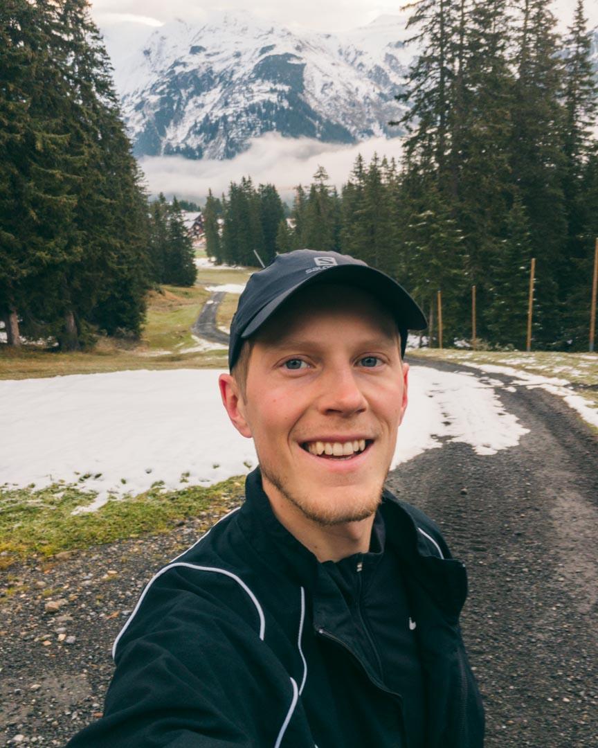 Årets første sne i Garmisch-Partenkirchen i oktober
