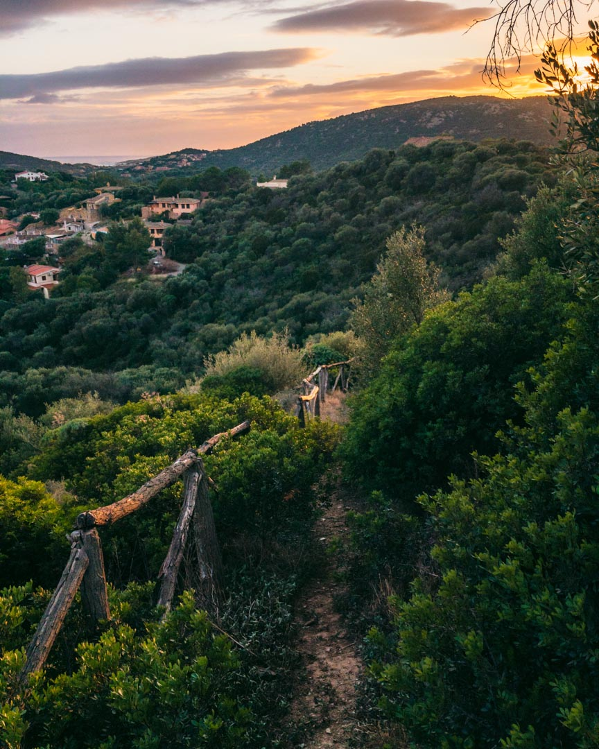 Sardinien solnedgang